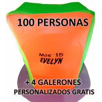 Cotillon Combo X 100 Unidades Fluo Casamiento 15 Años Carioc