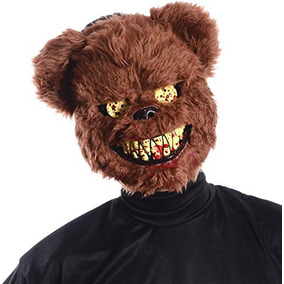Ted Deady Oso Creepy Scary Dientes Sangrientos Latex Adult