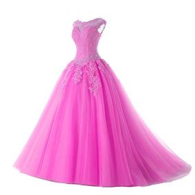 Vestido Festa Debutante Princesa 15 Anos Formatura Rosa
