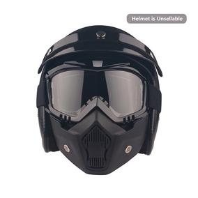 Motos Gafas Máscara Desmontable Casco Gafas De Sol Uv400