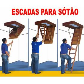 Escada De Alçapão Sótão Teto Americana