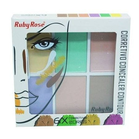 Paleta De Corretivo Color 6 Cores Ruby Rose Hb-8089