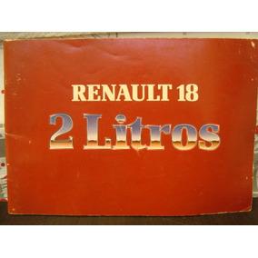 Renault 18 2 Litros Manual Servicio * Changoosx