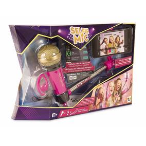 Set Microfono Karaoke Niñas Selfie Mic Imc Toys