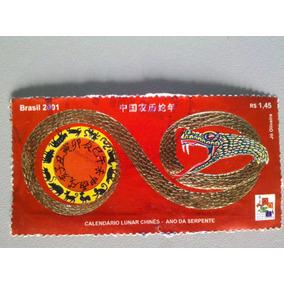 Selo Postal Br. 2001 Calendário Lunar Chinês Ano Da Serpente