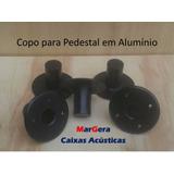2 Suporte Alumínio Copo Chapeu Para Pedestal De Caixa De Som