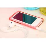 Case Capa Apple Ipod Nano 7 Geraça0 Acrílica Vermelha Preta