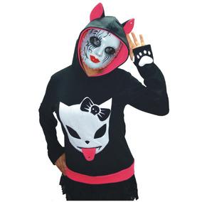 Buso Gato Chaqueta Neko Punk Rock Fashion Hoodie Cosplay