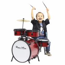 Bateria Rmv Rock Kids Vermelha - Maxcomp Musical
