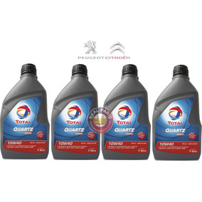Kit 4 Litros Oleo Total Quartz 7000 10w40 Peugeot Citroen