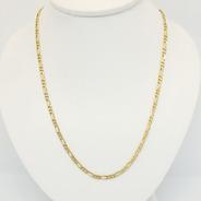 Cadena Figaro 3-1 De Oro 18kts 8,3grs 61cm Brumat