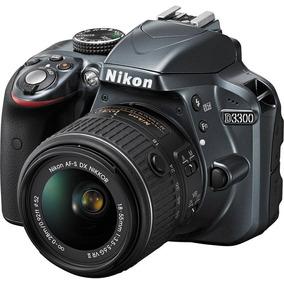 Câmera Nikon D3300 Lente 18-55 Nova Na Caixa C/ Nf