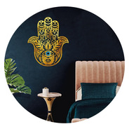 Vinilo Decorativo Mano Fatima Hamse Proteccion Dorado