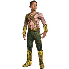 Disfraz De Bvs Deluxe Aquaman Niño Rubíes-talla Grande