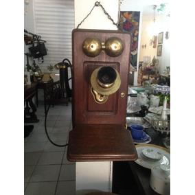 Telefone Antigo De Madeira !!!
