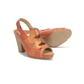 Sandalias Zapatillas Onena Juve 6819 Naranja Damas Primavera