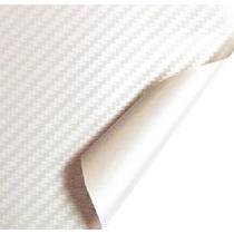 Envelopamento Fibra De Carbono Branco 120x30 Cm