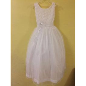 Hermoso Vestido Para Nena Para Bautizo,primera Comunio. Dama