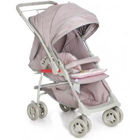 Carrinho Bebê Maranello Ii Galzerano Cinza Rosa