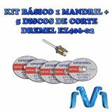 Kit Basico Ez Lock Dremel 406 1 Mandril + 5 Discos De Corte