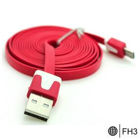 Celular Accesorio Cable Plano V8 Colores Micro Usb Economic