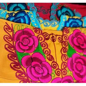 Lote De 10 Blusas Bordadas De Chiapas