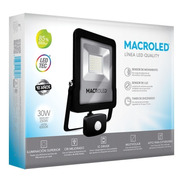 Macroled Reflector Led 30w Sensor Movimiento Frío 6500k