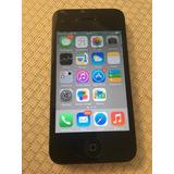 Iphone 4 16gb De Memória - Preto - Impecável