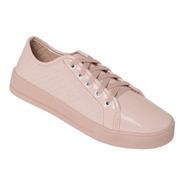 Tenis Feminino Sapatênis Rosa Casual Flat Form