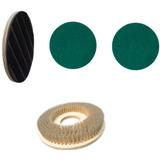 Escova+suporte Disco+2 Discos Verde Enceradeira Certec510