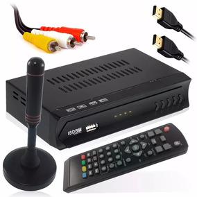 Kit Conversor Digital Tv Antena Interna Externa Cabo 5,0mt