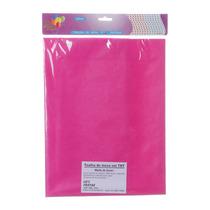 Toalha Descartável Para Mesa De Tnt Pink 70 X 70cm Com 4 Uni