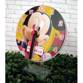 10 Relógio Mickey Personalizados, Lembrancinhas Aniversário