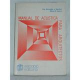 Manual De Acústica Para Arquitectos - Baschuk / Di Marco