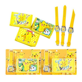Reloj Pikachu + Monedero Niños Envio Gratis Pokemon Cartera