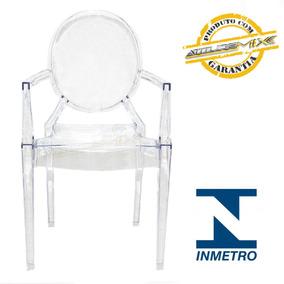 Cadeira Acrílica Louis Design Transparente Cristal