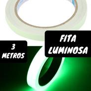 Fita Glow Fluorescente Festa Teto Brilha Neon Decoração Rolo
