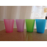 Vasos Shots Plasticos 2 Oz Material Pop Paquete De 20
