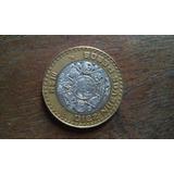 Moneda De Diez Nuevos Pesos Sentro Plata