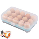 Envase Plástico Para Huevos Con Tapa / Disparocl