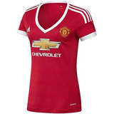 Playera Local Manchester United 15/16 Mujer adidas Ac1425