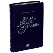 Bíblia De Estudo Genebra Azul Nobre