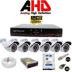 Kit Dvr Ahd-m 8 Canais 6 Camera Ahd Infra 2.0 Mp Protecseg