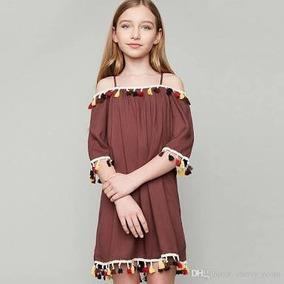 Vestido Ciganinha Importado Com Tassel Colorido. Tendência!