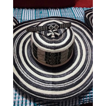 Sombrero Vueltiao Colombiano 19 Tradicional Fino C/cinturon