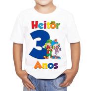 Camiseta Patati Patatá Personalizada Aniversário Nome Idade