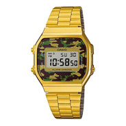 Reloj Casio A168wegc-3df Digital Dorado