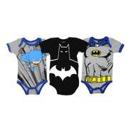 Ropa Bebe Pañaleros Jack Disney Batman Superman Set 3 Piezas
