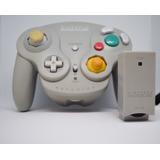 Nintendo Gamecube Wave Bird Controller Mando Wavebird Gris