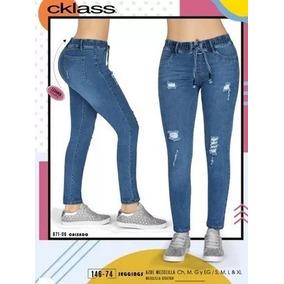 Pantalon Jeggins Azul Mezclilla Cklass 146-74 Oto/inv 2018